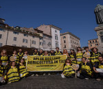 15-6-2013- Rome, Italy. Greenpeace volunteers.