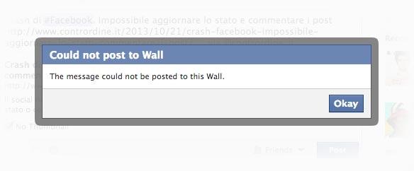 Facebook fa crash