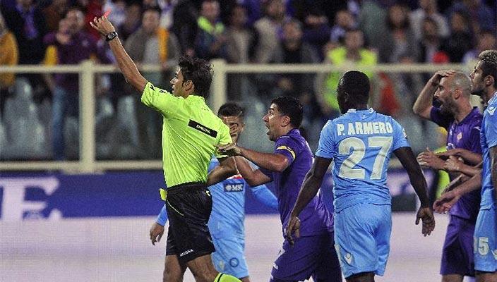 La simulazione Cuadrado in Fiorentina vs Napoli