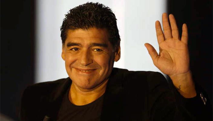 Il video di Maradona da Fazio