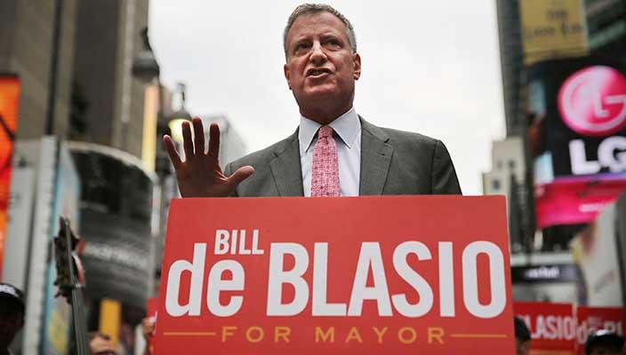 Bill de Blasio eletto sindaco di New York