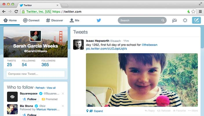 Nuovo look per la versione web di twitter