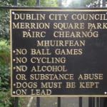Cartello Parco Dublino