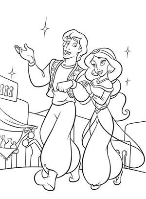 Disegni da colorare Aladdin