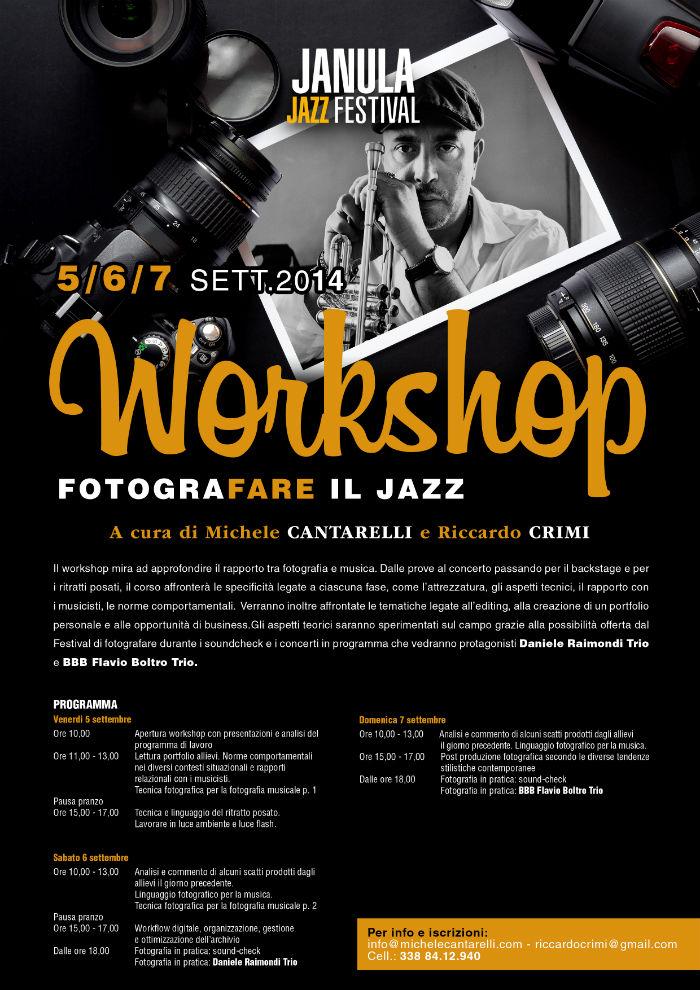 Locandina janula jazz festival workshop fotografia