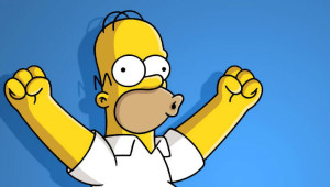 Homer Simpsons Ice Bucket Challenge
