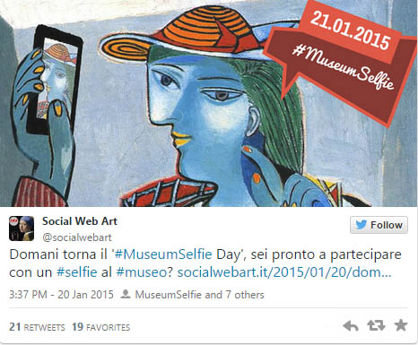 selfie al museo
