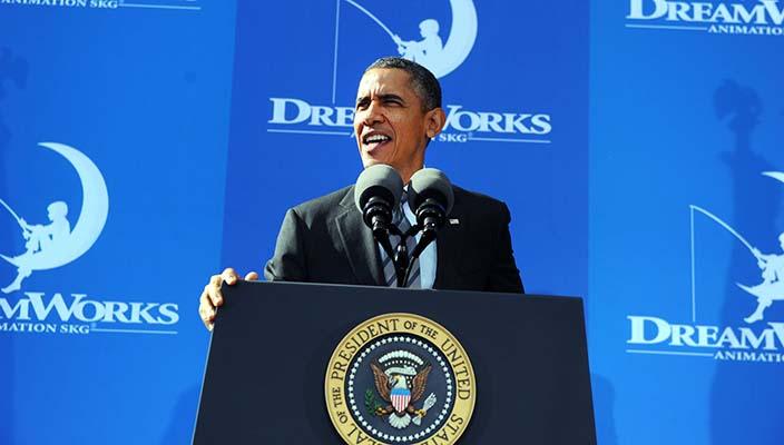 Obama alla DreamWorks