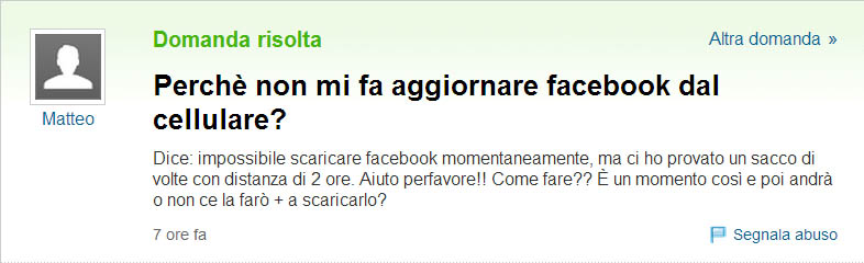 Yahoo Answer Facebook